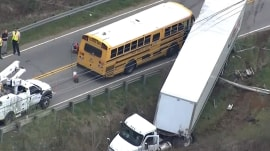 School bus crash caught on camera