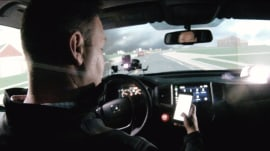 See how dangerous texting while driving can actually be