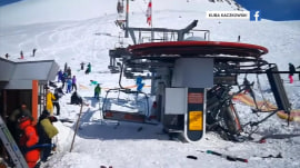 Ski lift malfunction sends riders flying into the air