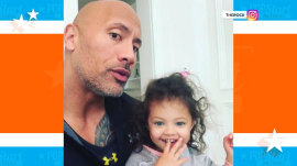 Watch Dwayne Johnson teach his 2-year-old daughter to say 'girl power'