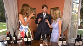 Italian wine connoisseur shares his top vinos … pops a bottle with a knife