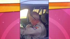 Watch this state trooper's emotional sign-off after 37 years