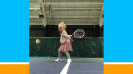 Watch this 4-year-old tennis ace show her stuff