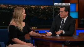 Amy Schumer tells Stephen Colbert about her honeymoon