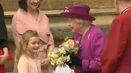 Prince William and Duchess Kate attend Easter service with the queen