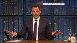 Seth Meyers recounts his second son's surprise birth in building lobby