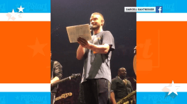 Watch Justin Timberlake interrupt concert for fan's pregnancy reveal