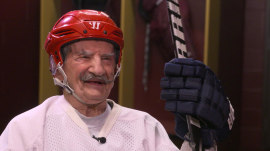 At 96 years old, Mark Sertich is the world's oldest hockey player