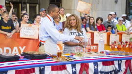 Make Sunny Anderson's pork chops and vodka spritzers for Memorial Day