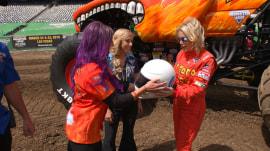 Watch Megyn Kelly get behind the wheel of a monster truck