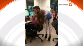 Viral photo of a hug has internet confused: Whose head is whose?