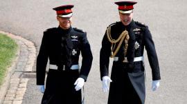 Royal Wedding: Prince Harry, William enter St. George's Chapel