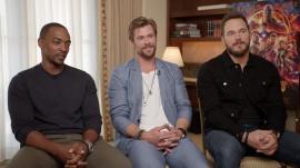 Chris Pratt, Chris Hemsworth and Anthony Mackie talk 'Avengers: Infinity War'