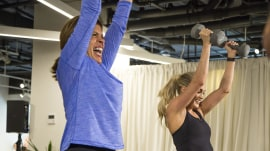 Hoda Kotb and Carrie Underwood work up a sweat celebrating the singer's clothing line