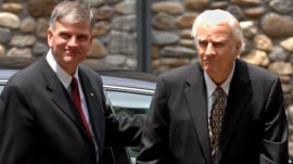 Rev. Billy Graham is subject of his son Franklin's new book