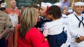 See a heartwarming surprise military reunion live on TODAY plaza