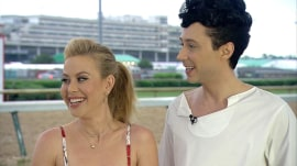 Johnny Weir and Tara Lipinski preview fashion trends at the Kentucky Derby