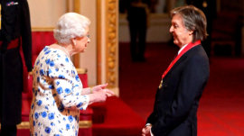 Paul McCartney honored by Queen Elizabeth for music achievements