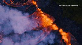 Mount Kilauea explodes again as lava continues to advance