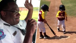 Highs and Lows: Officer tearfully signs off, kid crosses home plate as slowly as possible