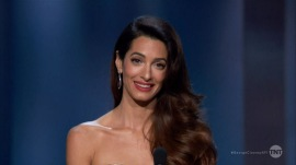 Amal Clooney gives touching speech about husband George at award ceremony