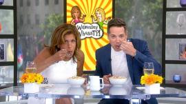 Hoda Kotb and Jason Kennedy try Dippin' Dots cereal