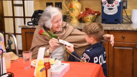 6-year-old playing 'police officer' hands out hugs at nursing homes