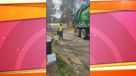 Trash collector picks up a sweet surprise from 3-year-old boy