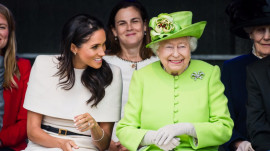 Meghan Markle travels with queen aboard royal train