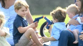 Prince George playing with toy gun sets off debate online