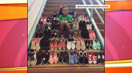 2nd-grader creates program to collect shoes for those in need