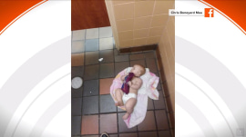 Dad who changed daughter's diaper on men's room floor sparks discussion