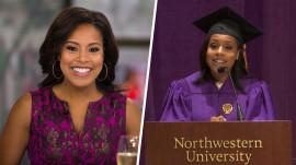 See Sheinelle Jones deliver advice to Northwestern graduates!