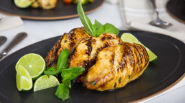Chef Jernard Wells makes delicious lime basil chicken