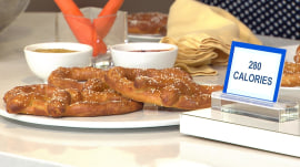 Joy Bauer whips up a healthy jumbo soft pretzel