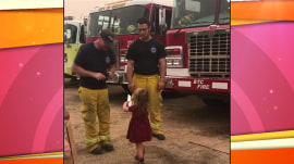 2-year-old serves breakfast to California firefighters battling Carr Fire in sweet video