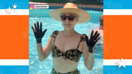 Dax Shepard explains why Kristen Bell wears gloves in the swimming pool