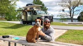 Meet the former NFL player hitting the road with just his dog and a van