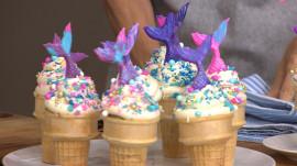 Chef Brandi Milloy makes delicious mini blueberry tarts and mermaid cupcakes