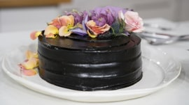 Chef Candice Kumai makes a beautiful, decadent matcha chocolate cake