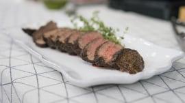 Cassidee Dabney makes tasty, marinated beef rib-eye