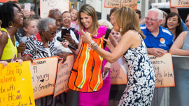 Grandmother who had 18 kids receives sweet gift from Hoda and Savannah on the TODAY plaza
