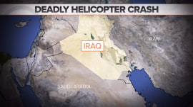 US helicopter crashes in Iraq; at least 1 dead