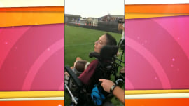 See this high school football player with cerebral palsy make an inspiring touchdown