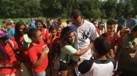 A-Rod surprises kids from the Boys and Girls Club at their annual baseball game