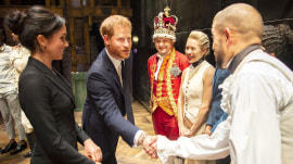 Prince Harry sings onstage during 'Hamilton' date night with Duchess Meghan