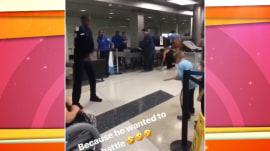 See a TSA officer accept little boy's dance battle challenge at airport