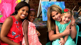 Jenna Bush Hager and Sheinelle Jones take their kids on a painting play date
