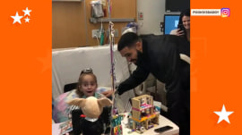 Drake surprises a young heart transplant patient — and her reaction is priceless