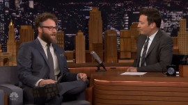 Watch Seth Rogen and Jimmy Fallon read 'dad texts'